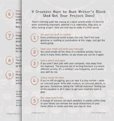 9 Creative Ways to Beat Writer's Block.