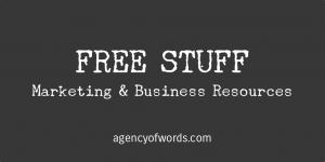 Free resources from Agency of Words.